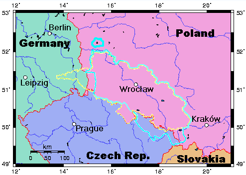 Map of Silesia (Schlesien) = a bunch of Poland + some ...