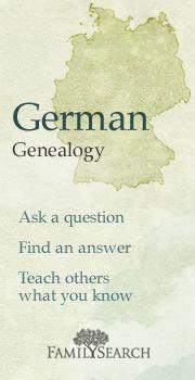 Germany Prussia Genealogy Research Community