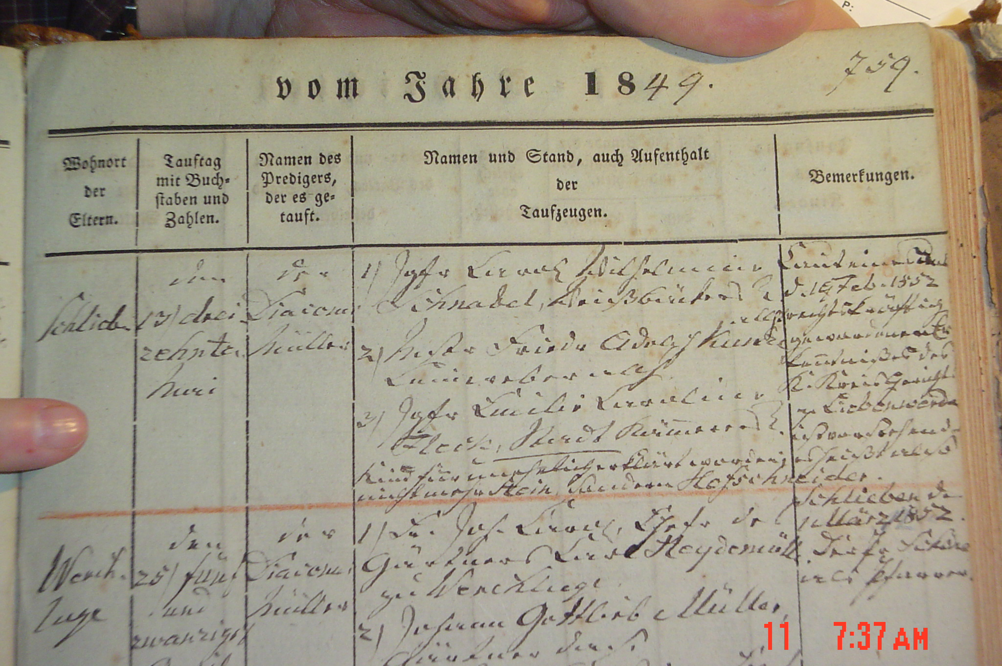 Minnie 1849 Right cropped More amazing accolades for GermanGenealogist.coms German Genealogy research on site IN Germany!